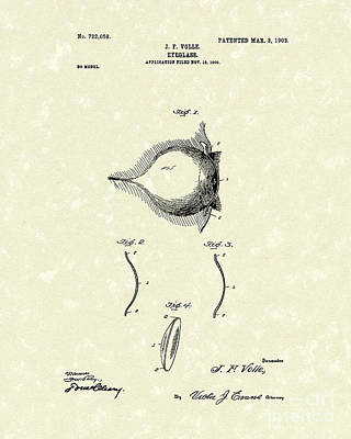 Single Drawing - Eyeglass 1903 Patent Art by Prior Art Design