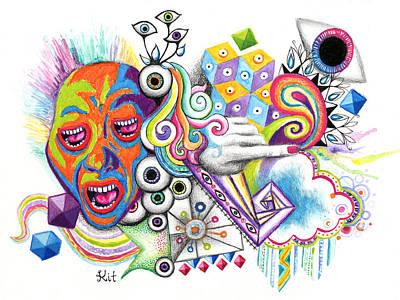 Screaming Mixed Media - Eyeless by Kit Clock