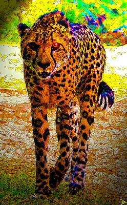 Cheetah Digital Art - Eye Of The Huntress by David Lee Thompson