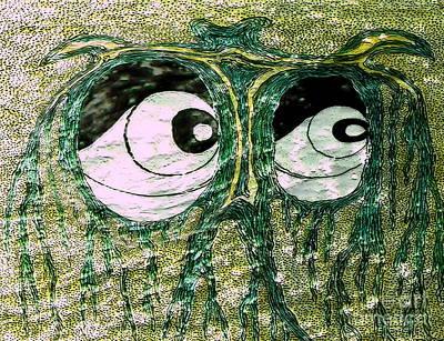 Eyes Green Forest Art Print by Yury Bashkin
