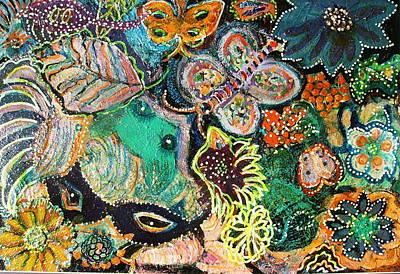 Eyes In Hiding Art Print by Anne-Elizabeth Whiteway