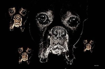 Eyes In The Dark Art Print by Maria Urso