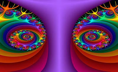 Digital Art - Eyes Of Color by Fran Riley