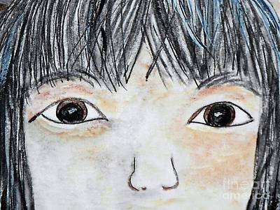 Child Painting - Eyes Of Love by Eloise Schneider