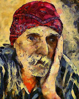 Thomas Kinkade - Eyes Of Sadness by Georgiana Romanovna