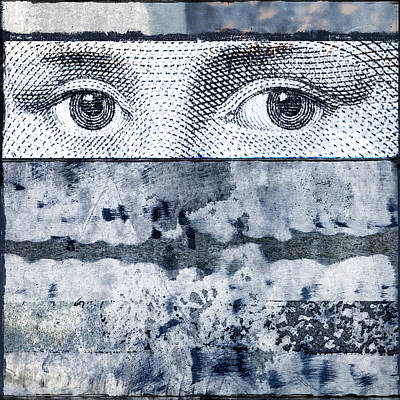 Collage Photograph - Eyes On Blue by Carol Leigh