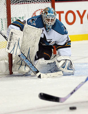 San Jose Sharks Wall Art - Photograph - Eyes On The Prize  Antti Niemi by Don Olea
