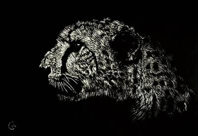 Cheetah Drawing - Eyes On The Prize by Nathan Cole