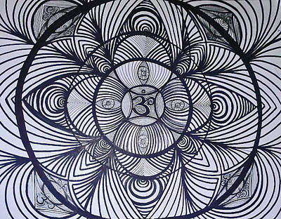 Third Eye Sky Spirit Soul Line Work Tattoo Sharpie Hippy Trippy Drawing - Eyes Open by Sarah Yencer