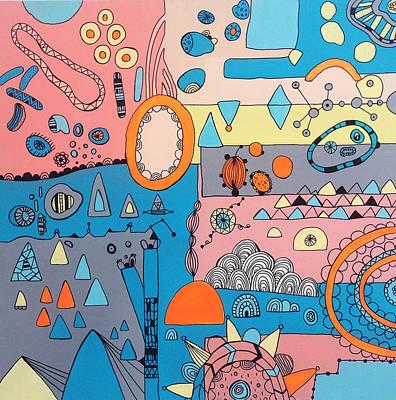 Eyeshut Scene Art Print by Susan Claire