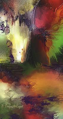 Abstract Digital Painting - Eygirunne by Francoise Dugourd-Caput