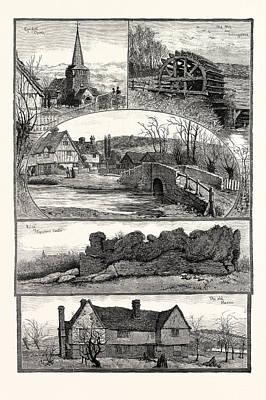Old Mills Drawing - Eynsford, Kent, Uk by English School