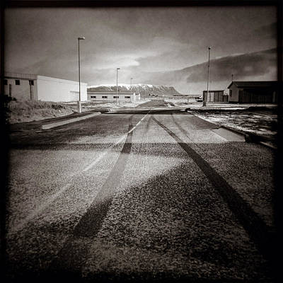 Quiet Town Photograph - Eyrarbakki Tracks by Dave Bowman