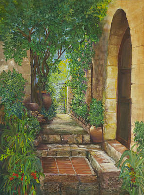 Painting - Eze Village by Alika Kumar