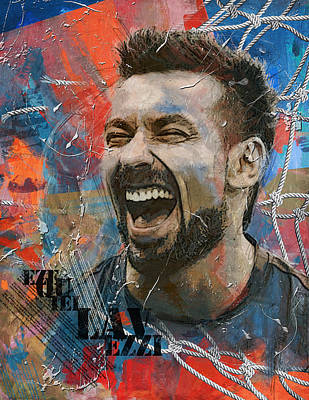 Ezequiel Lavezzi - B Original by Corporate Art Task Force