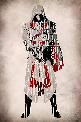 Digital Art - Ezio - Assassin's Creed Brotherhood by Inspirowl Design