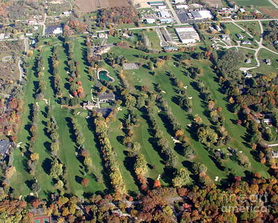 Photograph - F-016 Far View Golf Course Fall Oshkosh Wi by Bill Lang