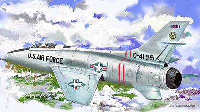 F-100 D Super Sabre Art Print