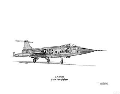 F-104 Starfighter Art Print by Arthur Eggers