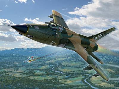 Vietnam War Digital Art - F-105d Thunderchief Mary Kay by Stu Shepherd