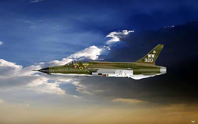Digital Art - F-105g Wild Weasel by Arthur Eggers