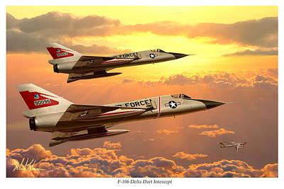 F-106 Delta Dart Intercept Art Print by Mark Karvon