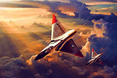 Dart Digital Art - F-106 Delta Dart by R Aa