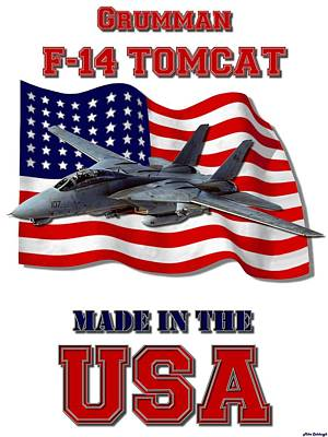 Made In The Usa Digital Art - F-14 Tomcat Made In The Usa by Mil Merchant