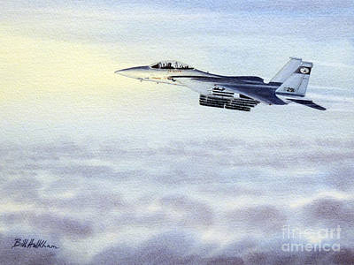 Painting - F-15 Eagle by Bill Holkham