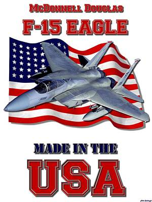 Made In The Usa Digital Art - F-15 Eagle Made In The Usa by Mil Merchant