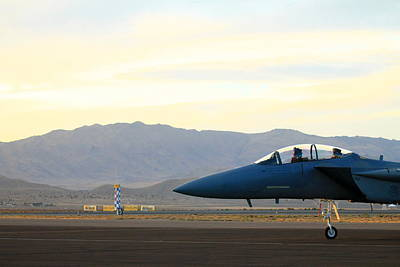 F15 Wall Art - Photograph - F-15 Eagle On The Ramp by Saya Studios