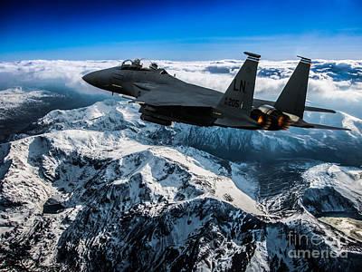 North Wales Digital Art - F-15 Strike Eagle by Paul Heasman