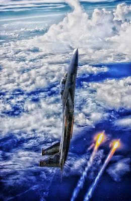 F-15 Vertical Climb Art Print
