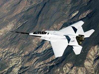 High Speed Photograph - F-15b Quiet Spike Test Plane by Nasa