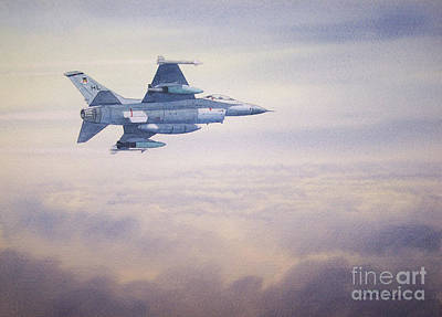 Painting - F-16 Fighting Falcon by Bill Holkham