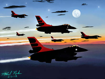 F-16 Vipers Art Print