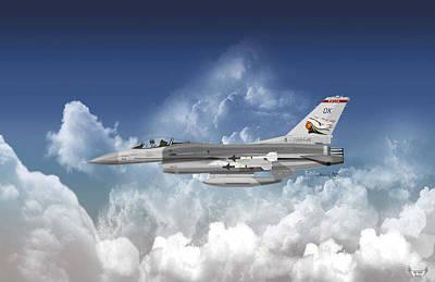 Digital Art - F-16c Falcon by Arthur Eggers