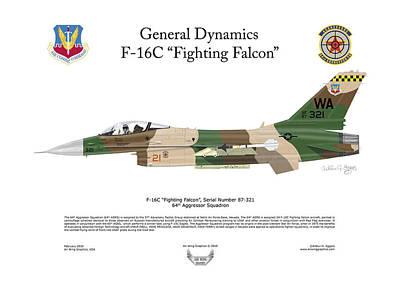 F-16c Fighting Falcon Art Print