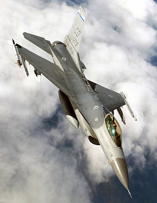 Army Reserves Photograph - F-16c Fighting Falcon by Celestial Images