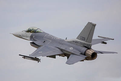 Photograph - F-16c Of The Vermont Air National Guard by Timm Ziegenthaler