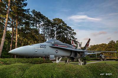 Photograph - F 18 Hornet by Walt  Baker