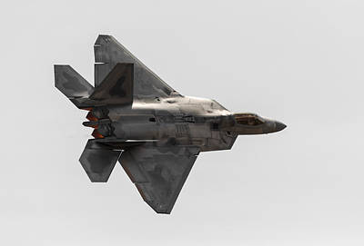 Fifth Generation Photograph - F-22 Burner Glow by John Daly