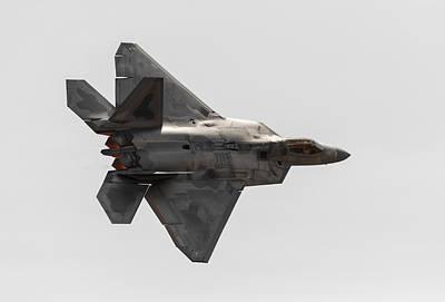 Jet Photograph - F-22 Burner Glow by John Daly