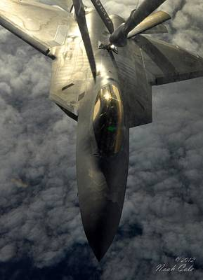 Missing Man Formation Photograph - F-22 Refuel by Noah Cole