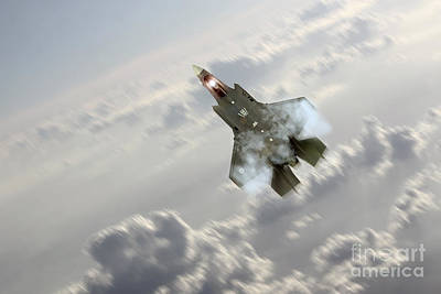 F15 Wall Art - Digital Art - F-35 Climb by J Biggadike