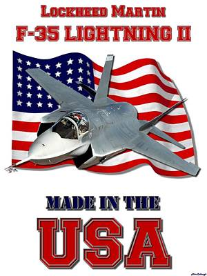 Made In The Usa Digital Art - F-35 Lightning II Made In The Usa by Mil Merchant
