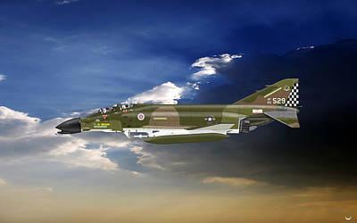 F-4c Digital Art - F-4c Phantom by Arthur Eggers