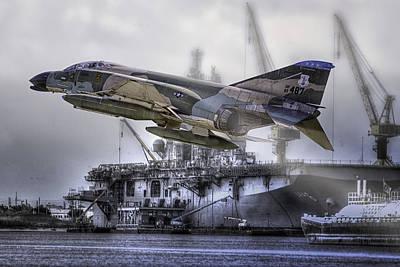 Photograph - F-4c Phantom by Barry Jones