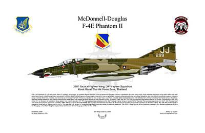 F-4e Phantom II Art Print by Arthur Eggers