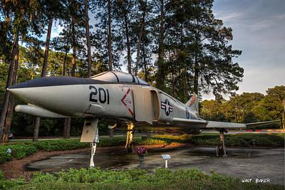 Photograph - F 4n Phantom by Walt  Baker